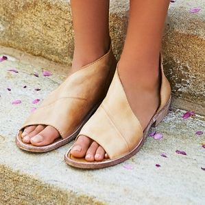 Size 8 free people leather sandals mont blanc